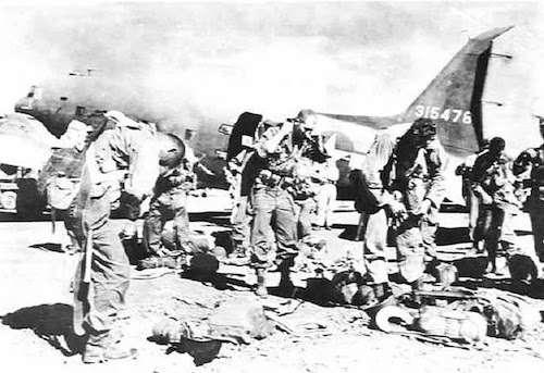 Los Baños Raid - Men of the 511 PIR preparing for a jump